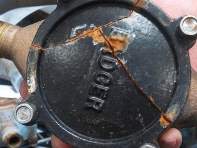 Here's a shot of one of the cracked meters Madison Water Utility found in 2014. (Photo Courtesy of Madison Water Utility)