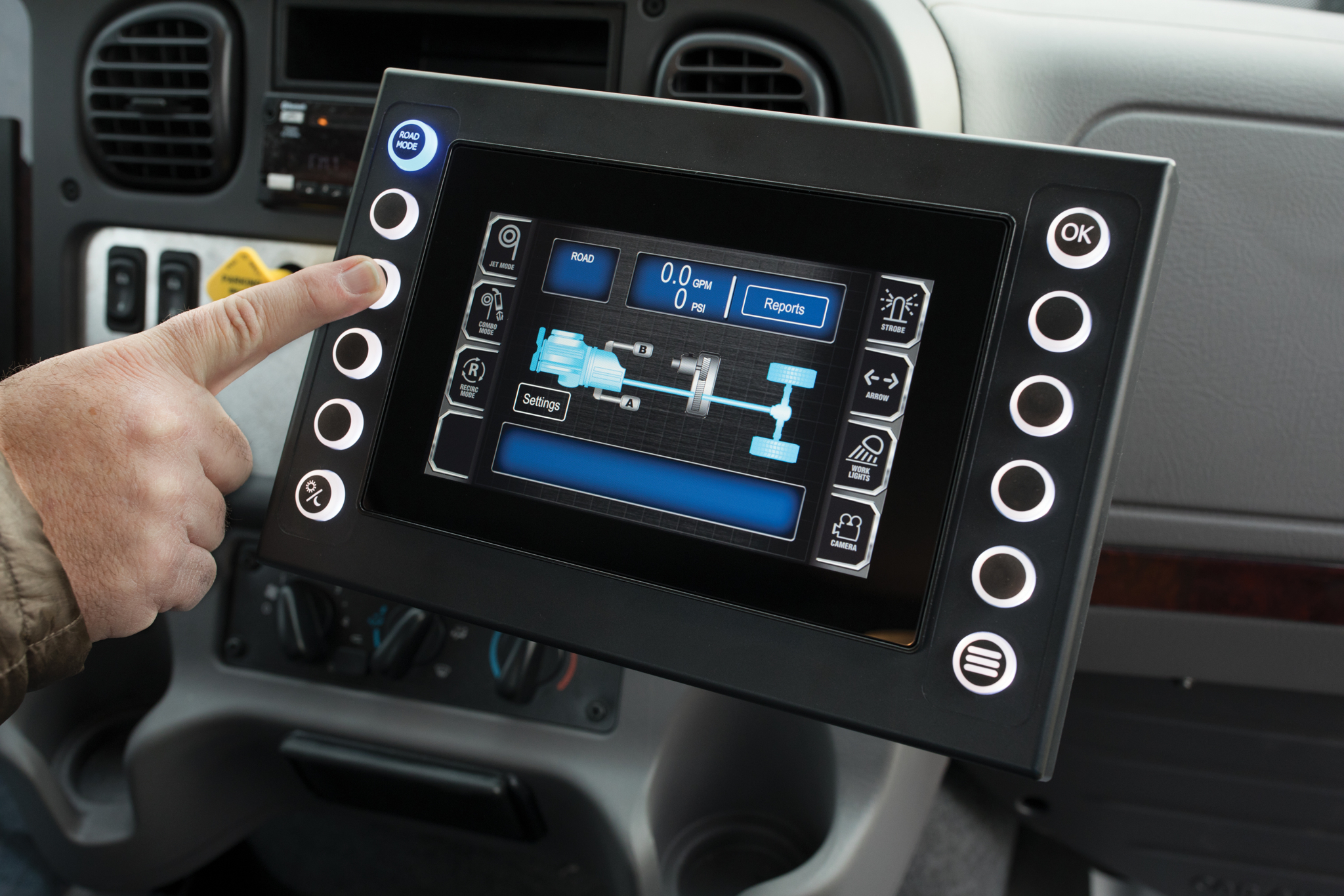 The in-cab controls