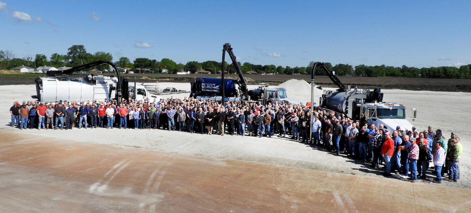 Vactor executives, employees and special guests gather to celebrate the expansion of the Streator facility, which will include expanding existing fabrication, welding, paint and assembly areas and test bays, as well as updates to the current training center and customer inspection facility.