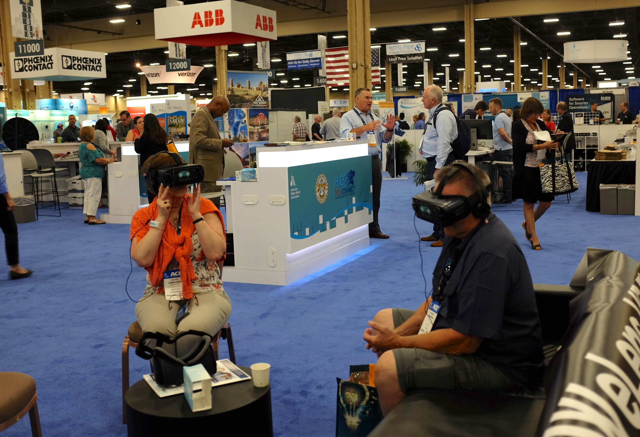 Virtual reality made an appearance in a few different booths at this year's show