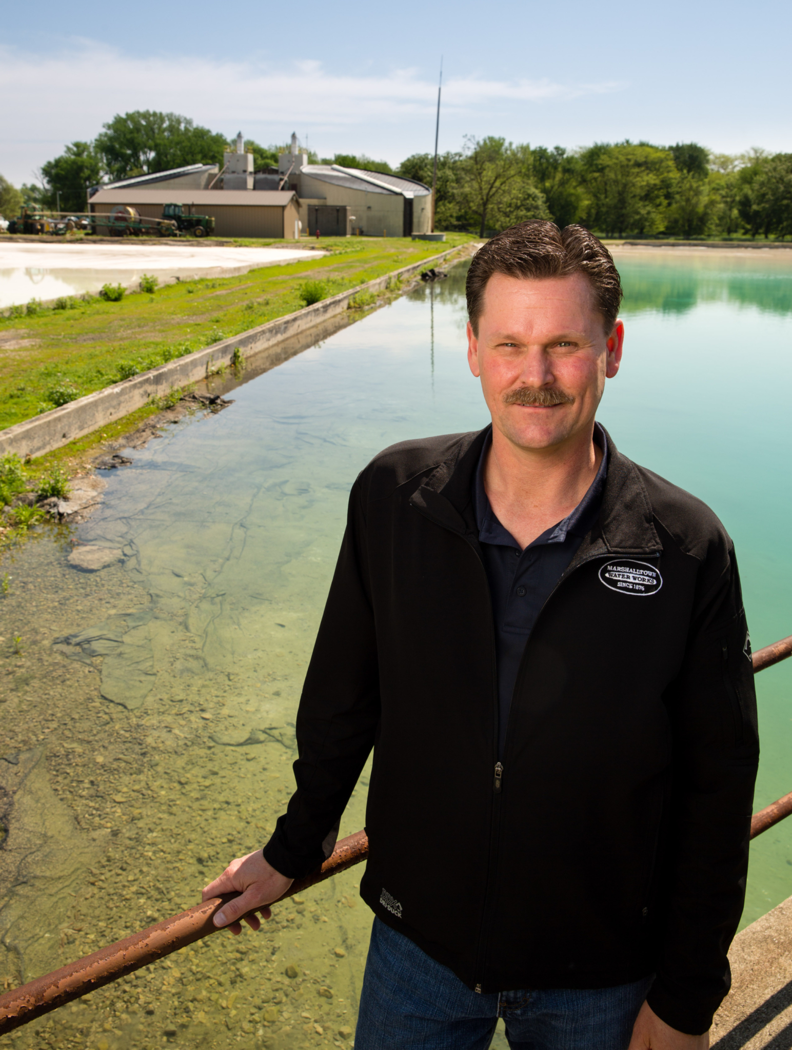 Marshalltown Water Works CEO and General Manager Steve Sincox at the water treatment plant in Marshalltown, Iowa. (Photo By Scott Morgan)