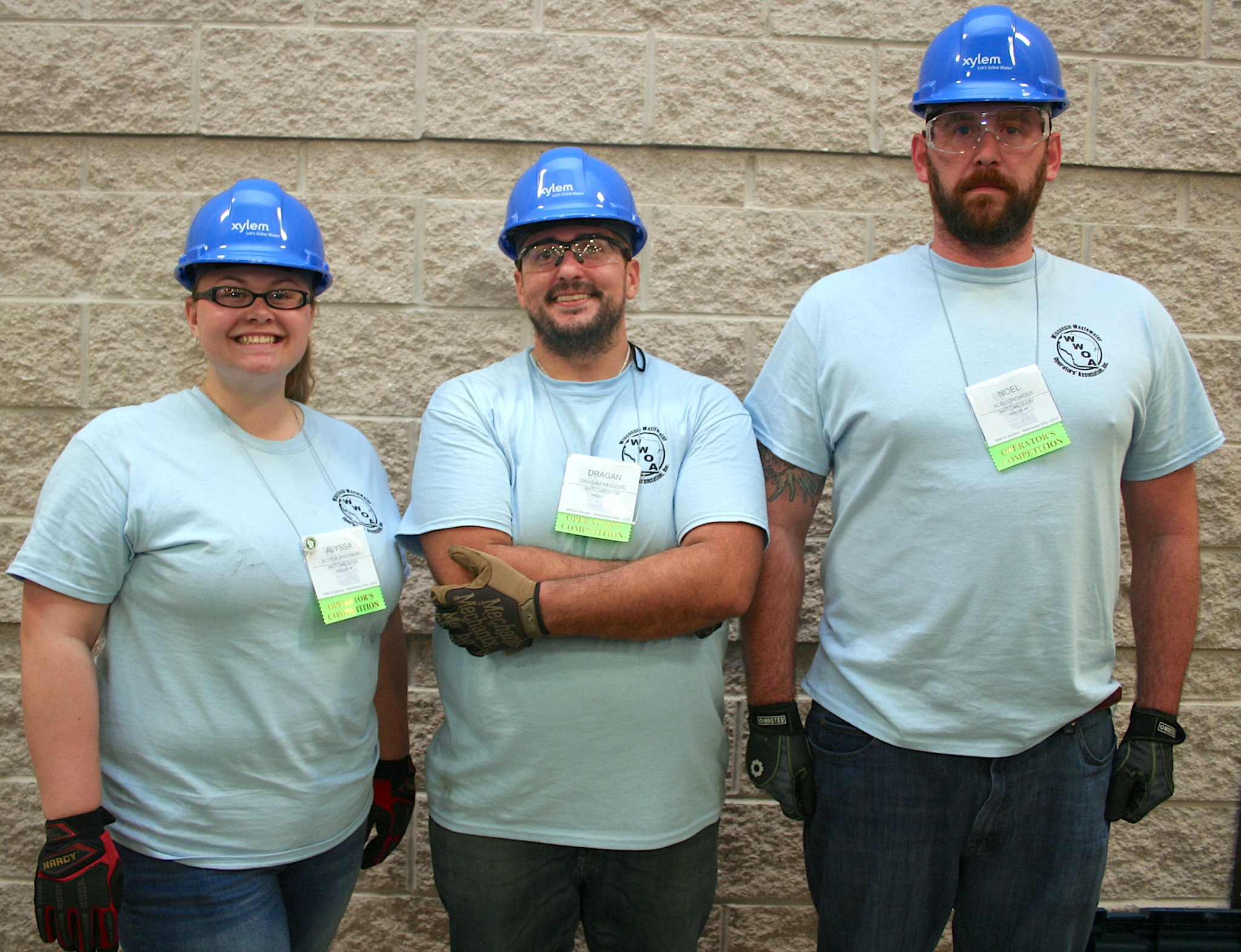 MATC's team included, from left, Alyssa Widowski, Dragan Pavlovic and Noel Crowder.